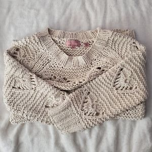 Ted Baker 100% cotton ivory sweater size 4